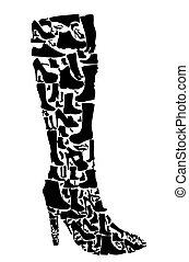 Schuhe Silhouette Vektor Illustration Eps10