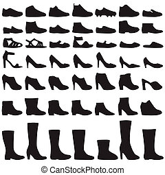 Schuhe Silhouette.