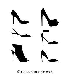 Schuhe Silhouetten Ikone.
