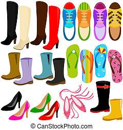 Schuhe (Stiefel, hohe Absätze, Turnschuhe)