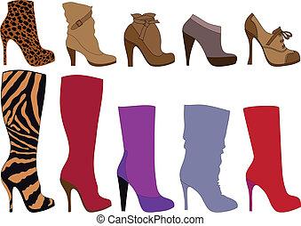 Schuhe und Stiefel, Vektor
