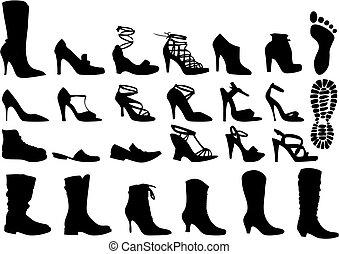 Schuhe, Vektor