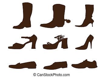 Schuhsammlung.