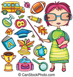Schul-Doodle-Ikonen