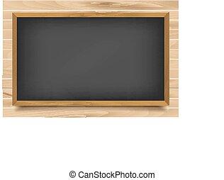 Schul-Nero-Board auf Holz-Hintergrund