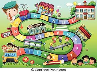 Schul-Themeboard-Spiel.