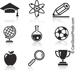 Schul- und Bildungs-Ikonen.
