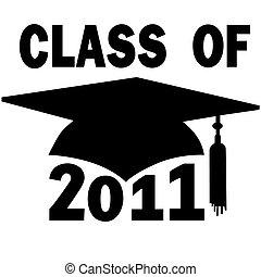 schule, kappe, studienabschluss, hoch, hochschule, 2011, klasse
