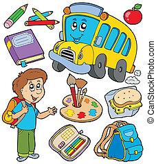 Schulobjekte sammeln