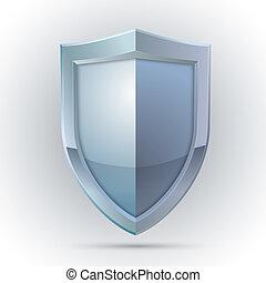 schutz, emblem, schutzschirm, leer