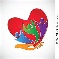 Schutzhandherz-Logo