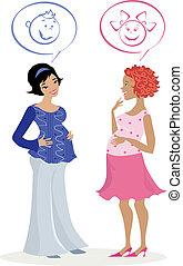 schwanger, quess, frauen