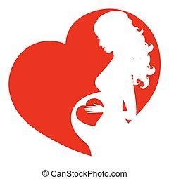 Schwangere Frau Silhouette.