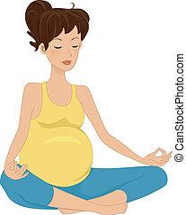 schwangerschaft, meditation