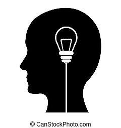 schwarz, bild, design, ideen, gedanken