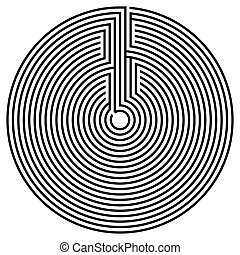 schwarz, runder , labyrinth