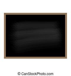 schwarz, tafel, vektor, hintergrund