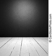Schwarz und weiß, leeres Innere