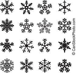 Schwarz-Weiß-Schneeflossen-Set