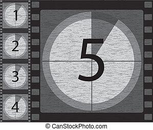 Schwarz-weißer Countdown