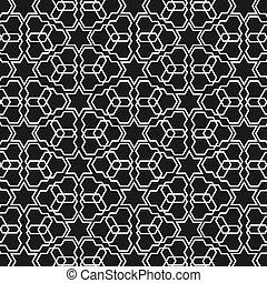 Schwarz-weißes islamisches Muster