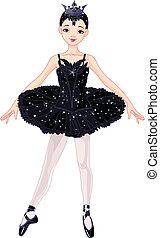Schwarze Ballerina.