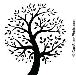 Schwarze Baum-Ikone.
