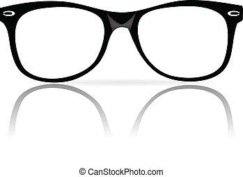 Schwarze Brillenrahmen