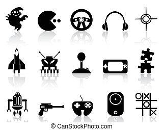 Schwarze Computerspiel-Ikone