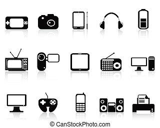 Schwarze elektronische Objekte, Ikonen
