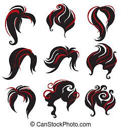 Schwarze Haare für Frauen