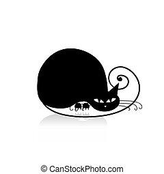 Schwarze Katze Silhouette für Ihr Design.