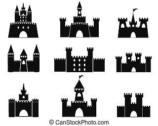 Schwarze Schloss Ikonen.