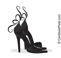 Schwarze Schuhe.