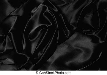Schwarze Seide