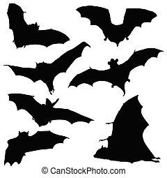 Schwarze Silhouette Illustration