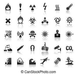 Schwarze Symbole sind gefährlich