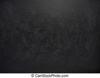 Schwarze Tafel mit den Spuren von Kreide.