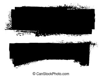 Schwarze Tintenbanner