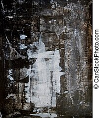 Schwarze und weiße abstrakte Kunst