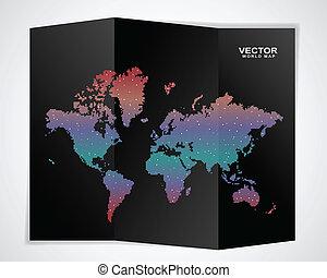 Schwarze Weltkarte