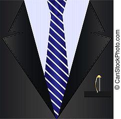 Schwarzer Background-Anzug