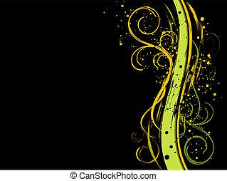 Schwarzer Grunge-Foral-Hintergrund