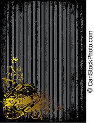 Schwarzer Hintergrund mit goldenen Waffen