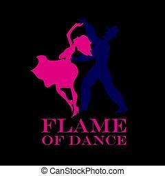 Schwarzer Hintergrund Salsa-Poster. Ein paar Tanz-Latin-Tanz-Vektorgrafik