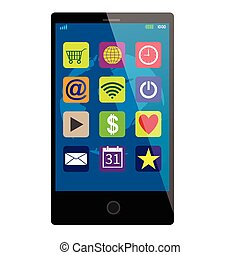 Schwarzer Touchscreen Smartphone.