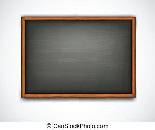 Schwarzes Klassenbrett. Vector