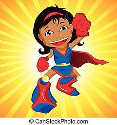 Schwarzes Superheldenmädchen.
