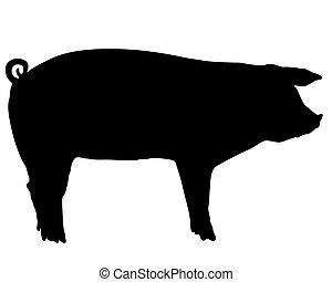 Schweinesilhouette