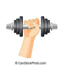 Schwere Dummer, um Muskeln in starkem Menschenhand zu trainieren